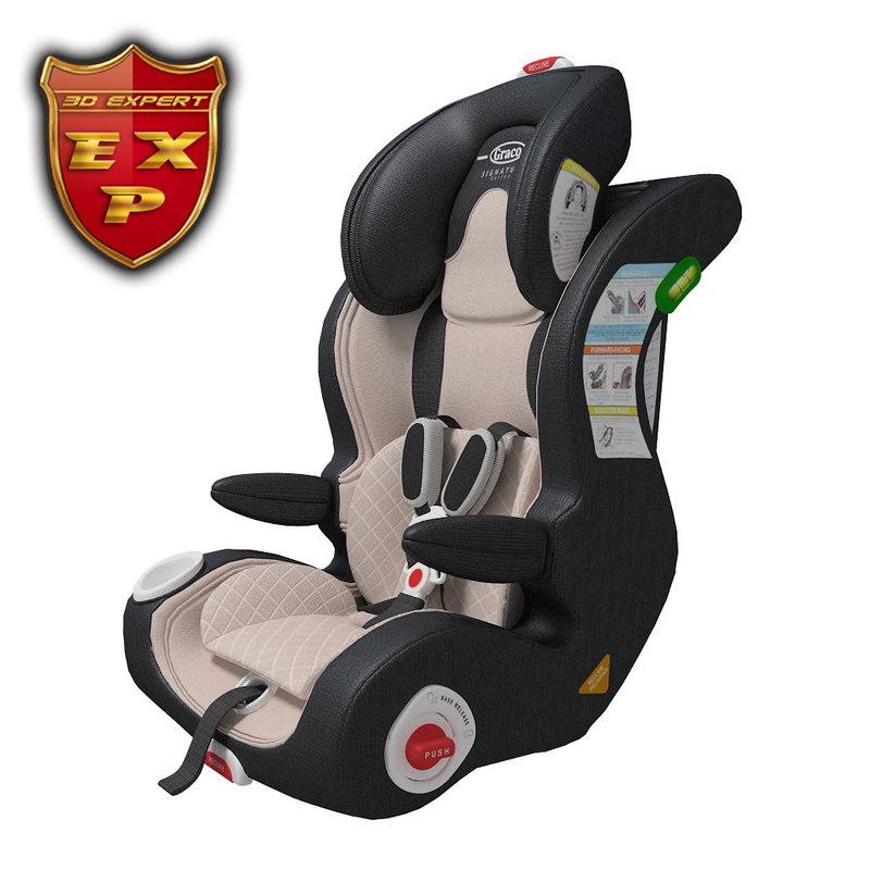 3d ar seat baby model