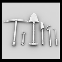 tool shovel 3d 3ds
