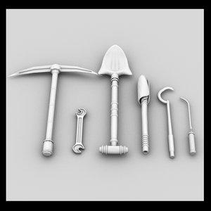 tool shovel 3d 3ds
