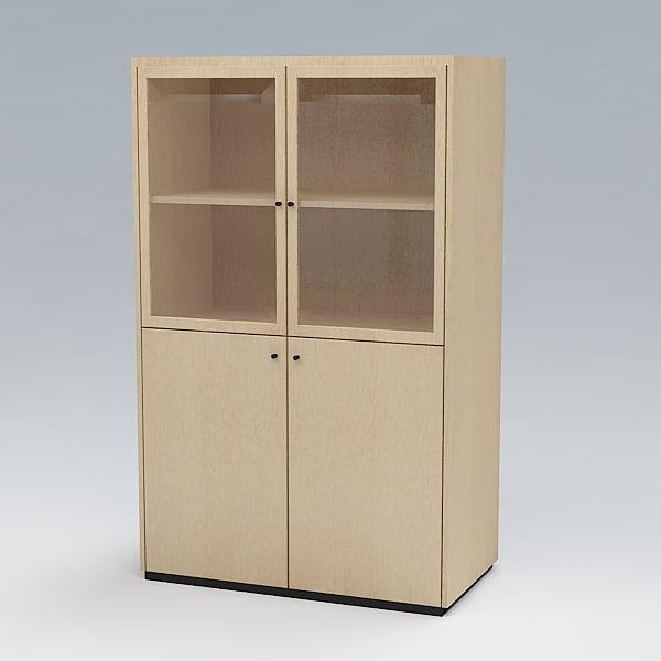 free bookcase 3d model