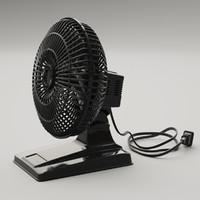 3d desk fan