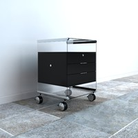 Gallotti & Radice Two Drawer Cabinet by Pierangelo Gallotti