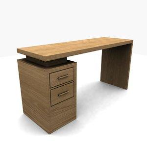 free gen file miles desk 3d model