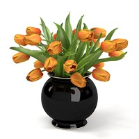 fbx orange tulips bouquet