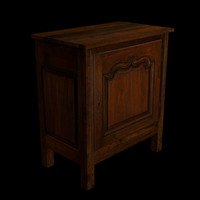 Traditional Cabinet, Low Poly