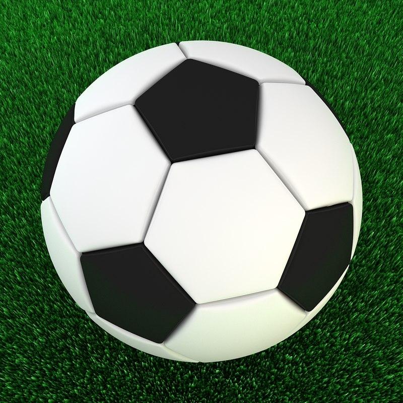 3d model classic soccer ball