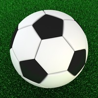 3d model classic soccer ball