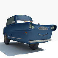 tomber characters cars 2 3d model