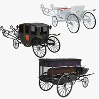 3d landau harness hearse model