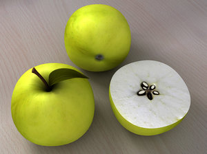 3d c4d apple core seeds