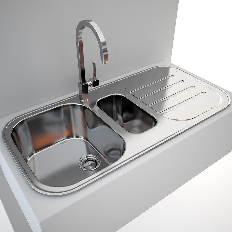 Sink Tap Kitchen 3ds