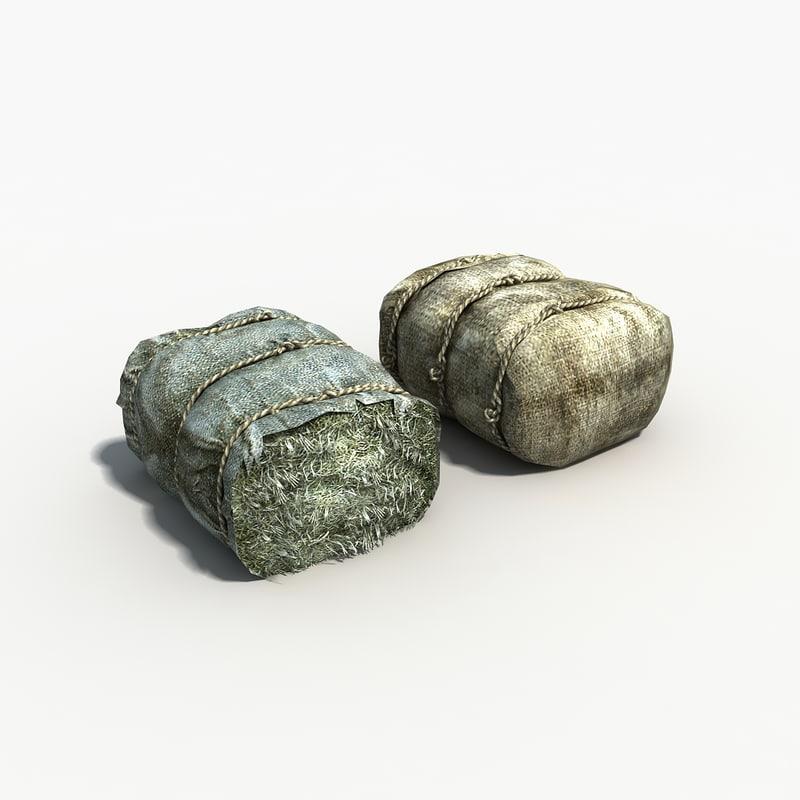 3d model canvas bale