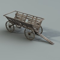 3ds max old cart