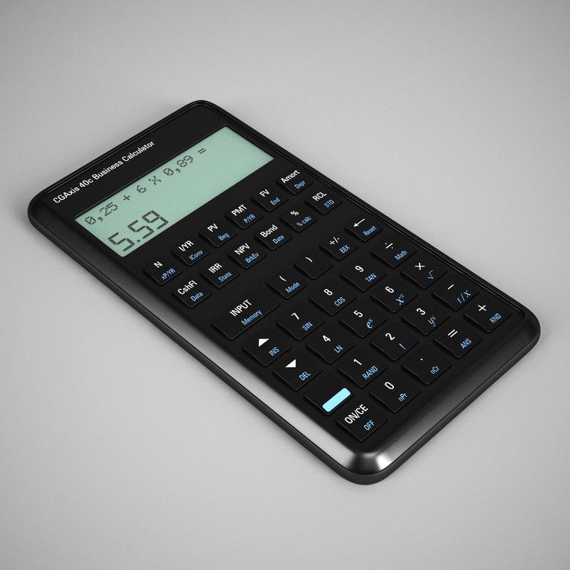 calculator 25 3d max