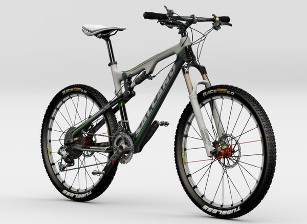 salcano mountain bicycle 3d max