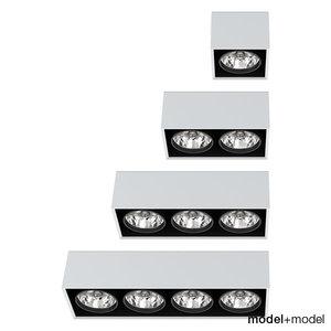 max artemide architectural ceiling spotlights