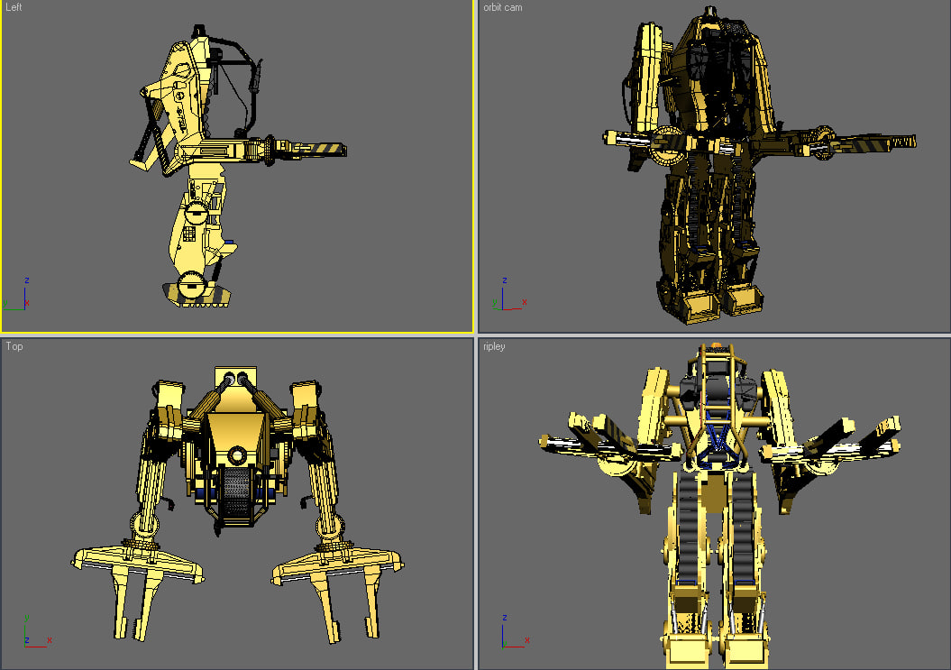 powerloader aliens 3d model