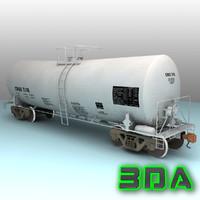 3d t104 tank car rail model
