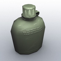 3ds max military canteen