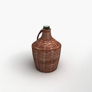3d model cellar wine bottle