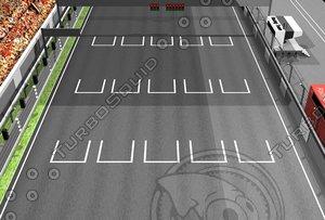 maya grid racing track