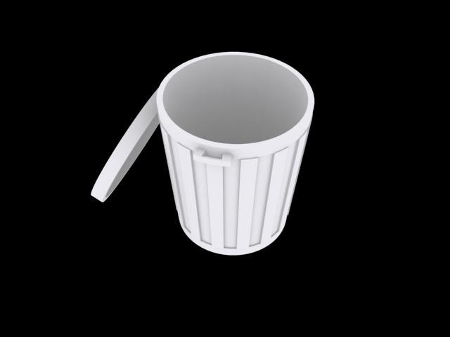 3d model of trash