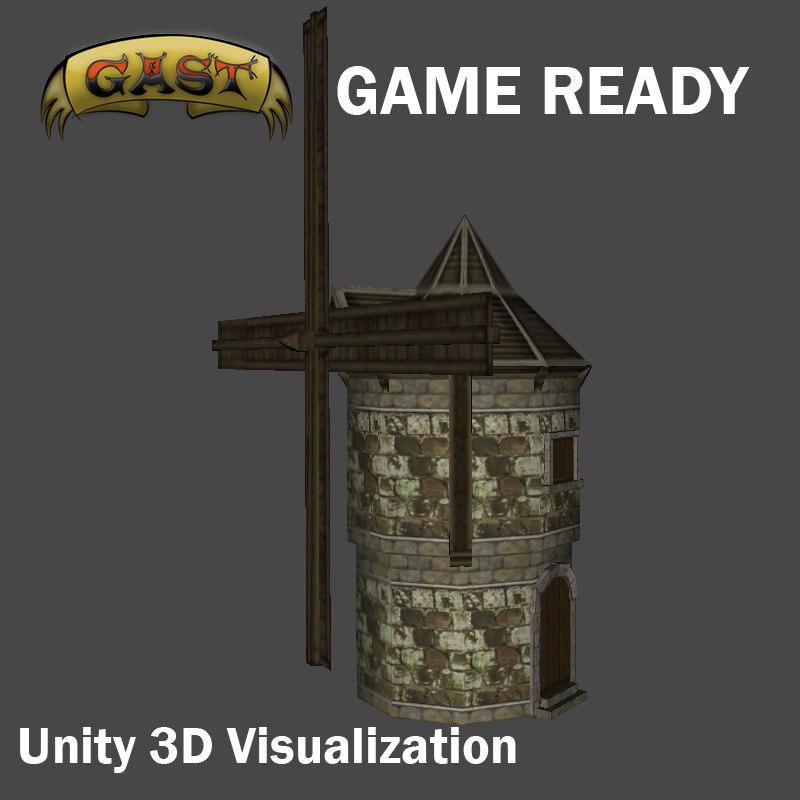 obj windmill fantasy