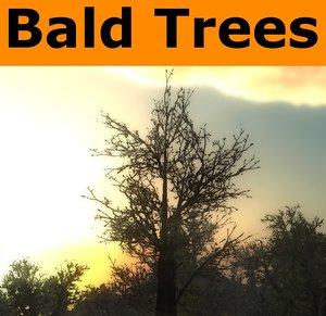 ready bald tree pack 3d model