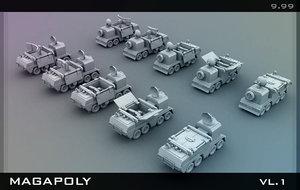 3d tank armored model
