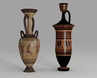 3dsmax ancient pottery-amphora