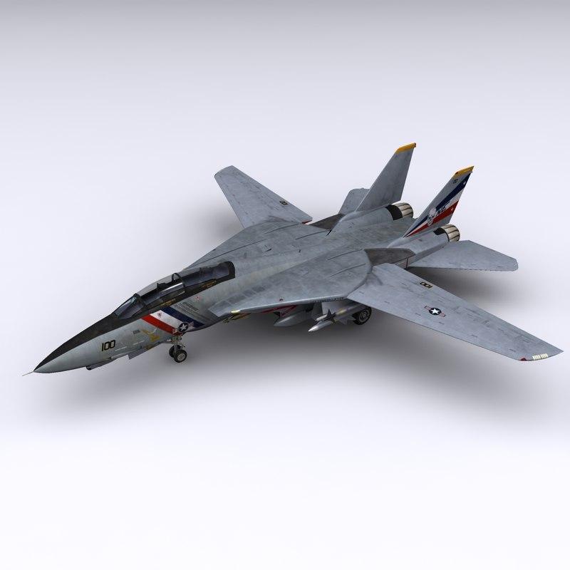 f-14 fighter jet f-14d 3d model