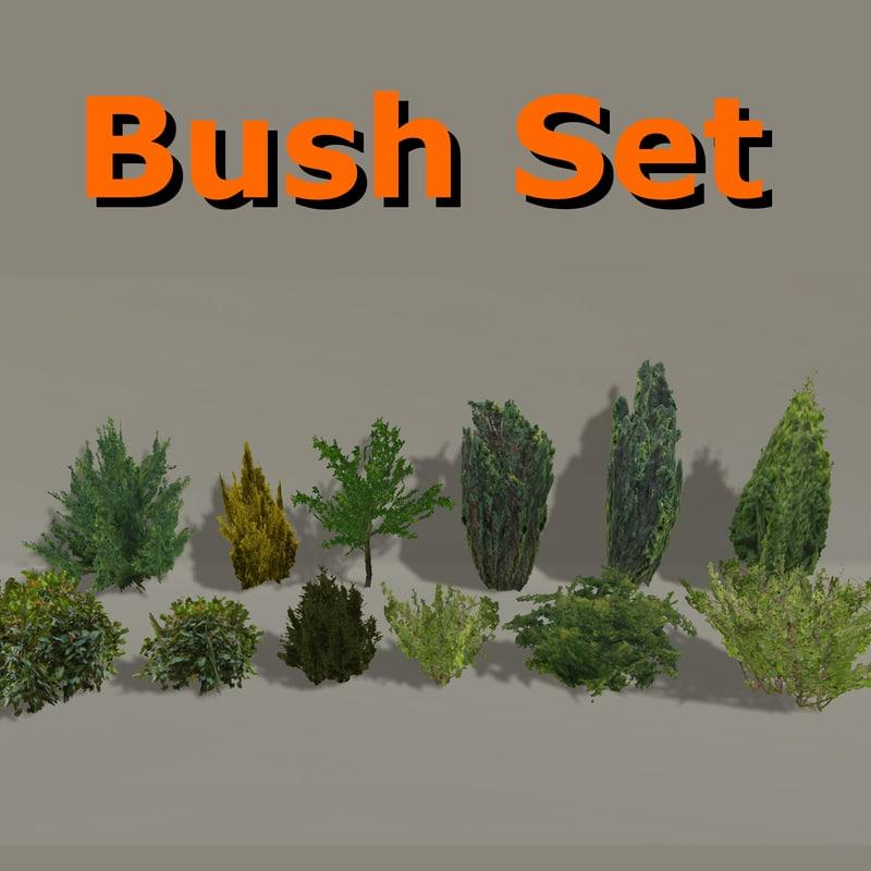 3d model of ready bush pack
