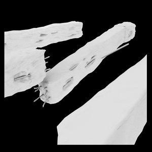 3d model debris pillar