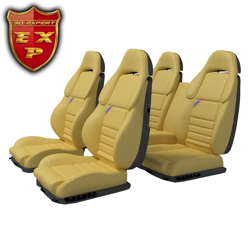 3d model car seat set