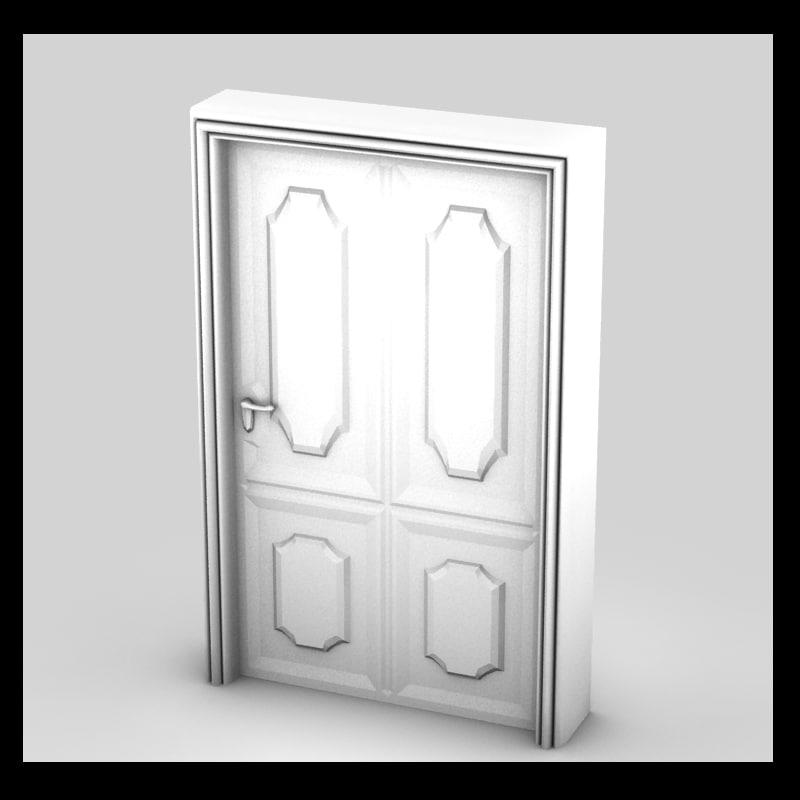 door decorative interior 3d max