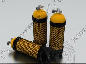 diving cylinder 3d 3ds