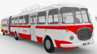 historical articulated bus 3d model