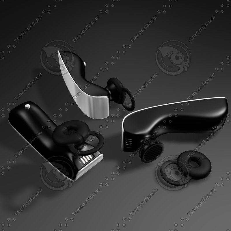 wireless bluetooth earphone mobile phone 3d max
