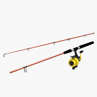 3d saltwater fishing rod reel model
