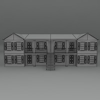 free apartment building house 3d model