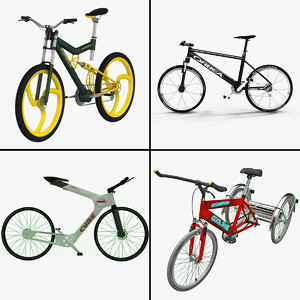 3d bicycles adult tricycle model