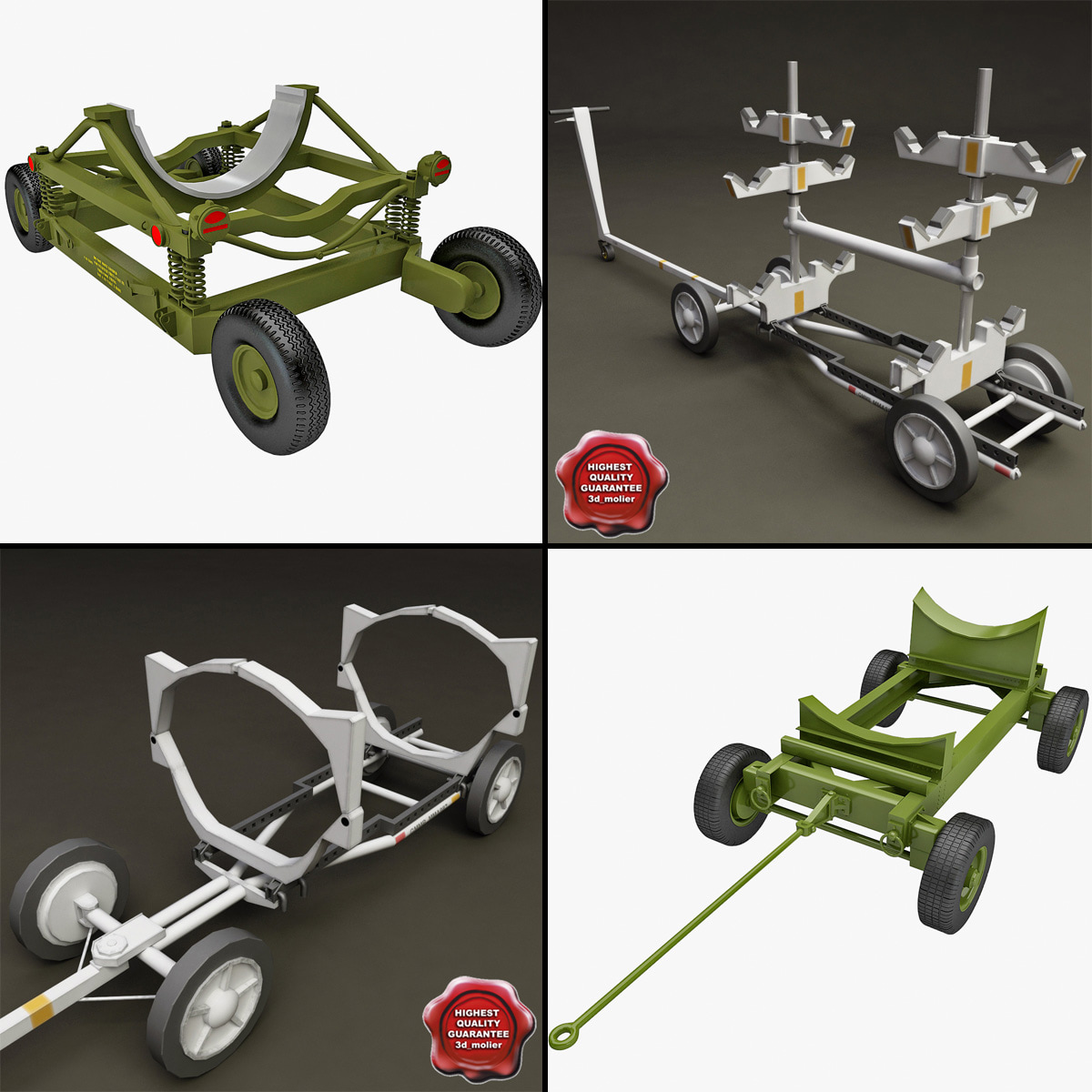 3d model of bomb carts 3