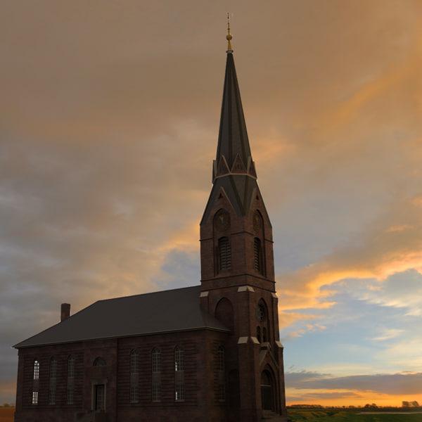 evangelic church altenwerder obj