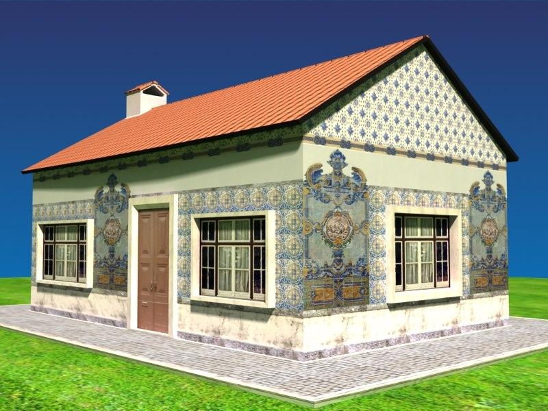 portuguese house tiles 3d model