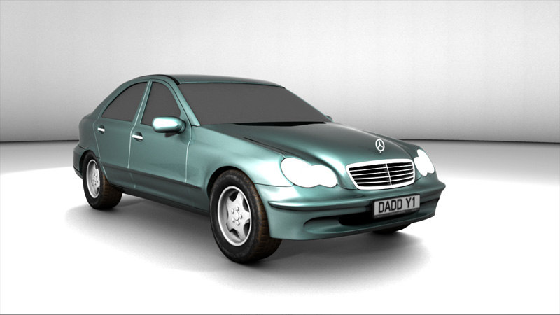 luxury saloon 3d model