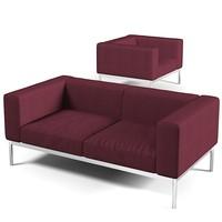 3ds max minotti helion sofa