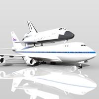 NASA Shuttle Carrier Aircraft Boeing 747