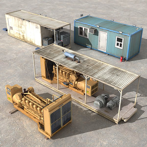 3d model land rig - power