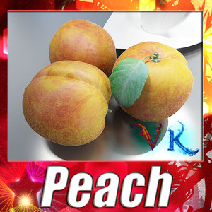 3d model photorealistic peach resolution