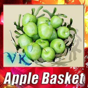 fruit basket green apple max